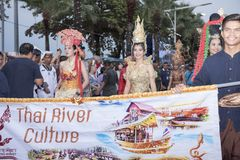 19 11 2017 internationale Marine-, internationale Flottenbericht asean-` s 50 Jahrestagsparade 2017 in Pattaya, Thailand Stockbilder