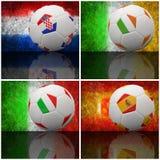 Internationale Markierungsfahne auf Fußball 3d Lizenzfreies Stockfoto