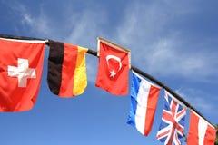 Internationale Markierungsfahnen. Lizenzfreies Stockfoto
