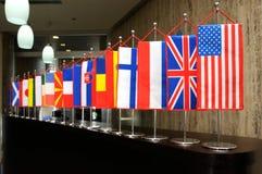 Internationale Markierungsfahnen Lizenzfreies Stockbild