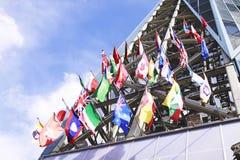 Internationale Markierungsfahnen Stockbilder