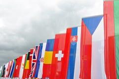 Internationale Markierungsfahnen Stockfotografie