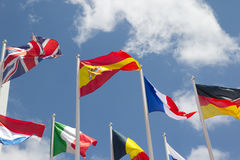 Internationale Markierungsfahnen Lizenzfreie Stockfotos