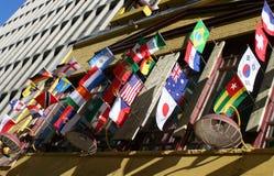 Internationale Markierungsfahnen lizenzfreie stockbilder