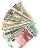 Internationale munten Royalty-vrije Stock Fotografie