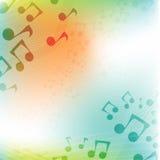 Internationale Muziekdag Veelkleurige vlakke muziekachtergrond Royalty-vrije Stock Afbeelding
