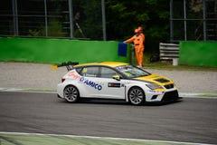 Internationale Reihen TCR SETZEN LeÃ-³ n in Monza 2015 Lizenzfreies Stockfoto