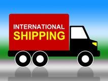 Internationale Schifffahrt zeigt über The Globe und Globalisierung an Stockfotos