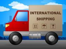 Internationale Schifffahrt zeigt über The Globe und Ländern an Lizenzfreies Stockbild