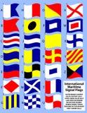 Internationale Seesignal-Markierungsfahnen Stockfotos