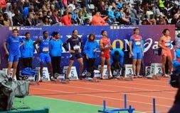 Internationale Spiele DecaNation im Freien am 13. September 2015 in Paris, Frankreich Lizenzfreie Stockfotos