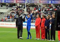 Internationale Spiele DecaNation im Freien am 13. September 2015 in Paris, Frankreich Lizenzfreie Stockfotografie