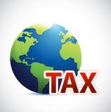 Internationale Steuerzeichen-Konzeptillustration Stockfotografie
