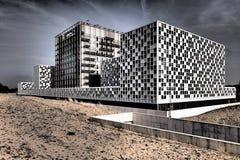Internationale Strafkammer in den drastischen Farben Lizenzfreie Stockfotos