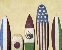 Internationale Surfbretter Stockfotografie