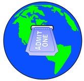 Internationale toelating vector illustratie