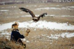 Internationale toernooien van meesters van de jacht met de jacht van vogels Stock Foto