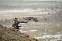 Internationale toernooien van meesters van de jacht met de jacht van vogels Stock Fotografie