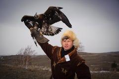 Internationale toernooien van meesters van de jacht met de jacht van vogels Royalty-vrije Stock Foto