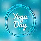 Internationale vector de illustratiebanner van de Yogadag royalty-vrije illustratie