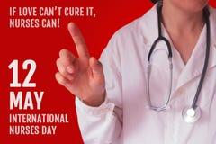 Internationale Verpleegstersdag royalty-vrije stock afbeeldingen