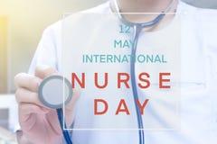 Internationale verpleegstersdag stock afbeeldingen