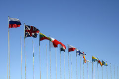 Internationale vlaggen Royalty-vrije Stock Foto's