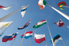 Internationale vlaggen Stock Afbeelding