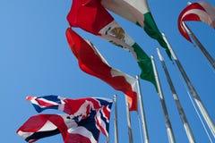 Internationale Vlaggen Royalty-vrije Stock Foto
