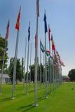 Internationale vlaggen Stock Fotografie