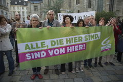 Internationale Vluchtelings dag-Europese Paraplu Maart Stock Foto's