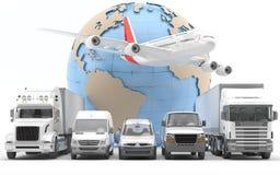 Internationale vracht stock illustratie