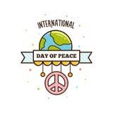 Internationale vredesdag Vector illustratie Stock Afbeeldingen