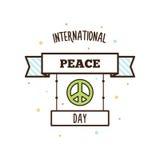 Internationale vredesdag Vector illustratie Stock Foto's
