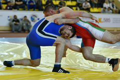 Internationale vrij slag het worstelen toernooien Victory Day in St. Petersburg, Rusland Royalty-vrije Stock Foto's