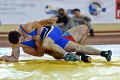 Internationale vrij slag het worstelen toernooien Victory Day in St. Petersburg, Rusland Stock Afbeelding