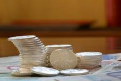 Internationale Währung und gehendes libery Silber Stockfotografie