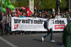 Internationale Workers' Dag 1 Mei 2016, Berlijn, Duitsland Stock Foto
