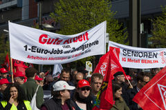 Internationale Workers' Dag 1 Mei 2016, Berlijn, Duitsland Stock Foto's