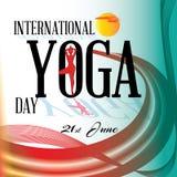 Internationale Yogadag Stock Foto's