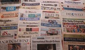 Internationale Zeitung Lizenzfreies Stockfoto