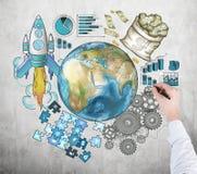 Internationale Zusammenarbeit zwischen Unternehmen Stockbilder