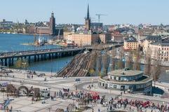 Internationaler Arbeitskraft ` s Tag in Stockholm Lizenzfreie Stockbilder