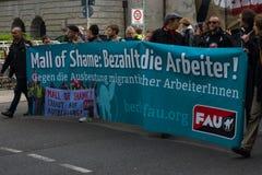 Internationaler Arbeitstag in Berlin Stockbild