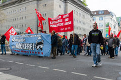 Internationaler Arbeitstag in Berlin Stockbilder