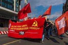 Internationaler Arbeitstag in Berlin Stockfotografie