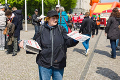 Internationaler Arbeitstag in Berlin Stockfoto