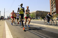 26. internationaler Belgrad-Marathonlauf Lizenzfreies Stockfoto