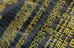 Internationaler Flughafen-Abfahrt-Brett lizenzfreies stockfoto
