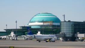 Internationaler Flughafen Astanas stock video